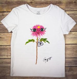 Gogimogi Dahlia Flower T-Shirt For Kids