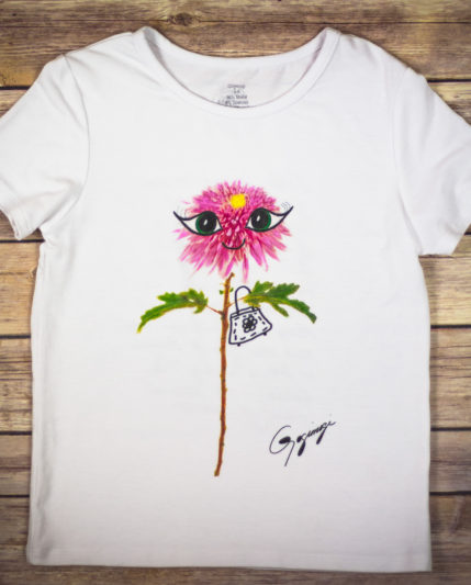 Gogimogi Dahlia Flower T-Shirt For Kids