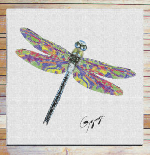 Gogimogi Wall Art-Dragonfly on Fine Art or WC Paper