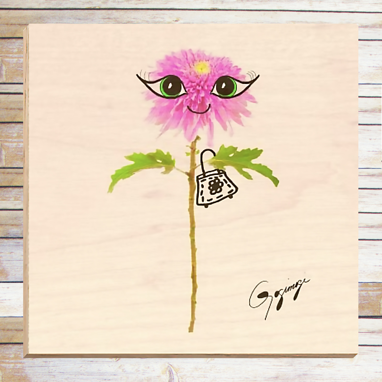 Flower Wall Art dahlia flower wall art on wood – gogimogi