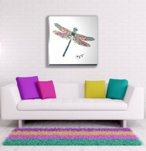 Gogimogi Wall Art-Dragonfly on Acrylic in Livingroom