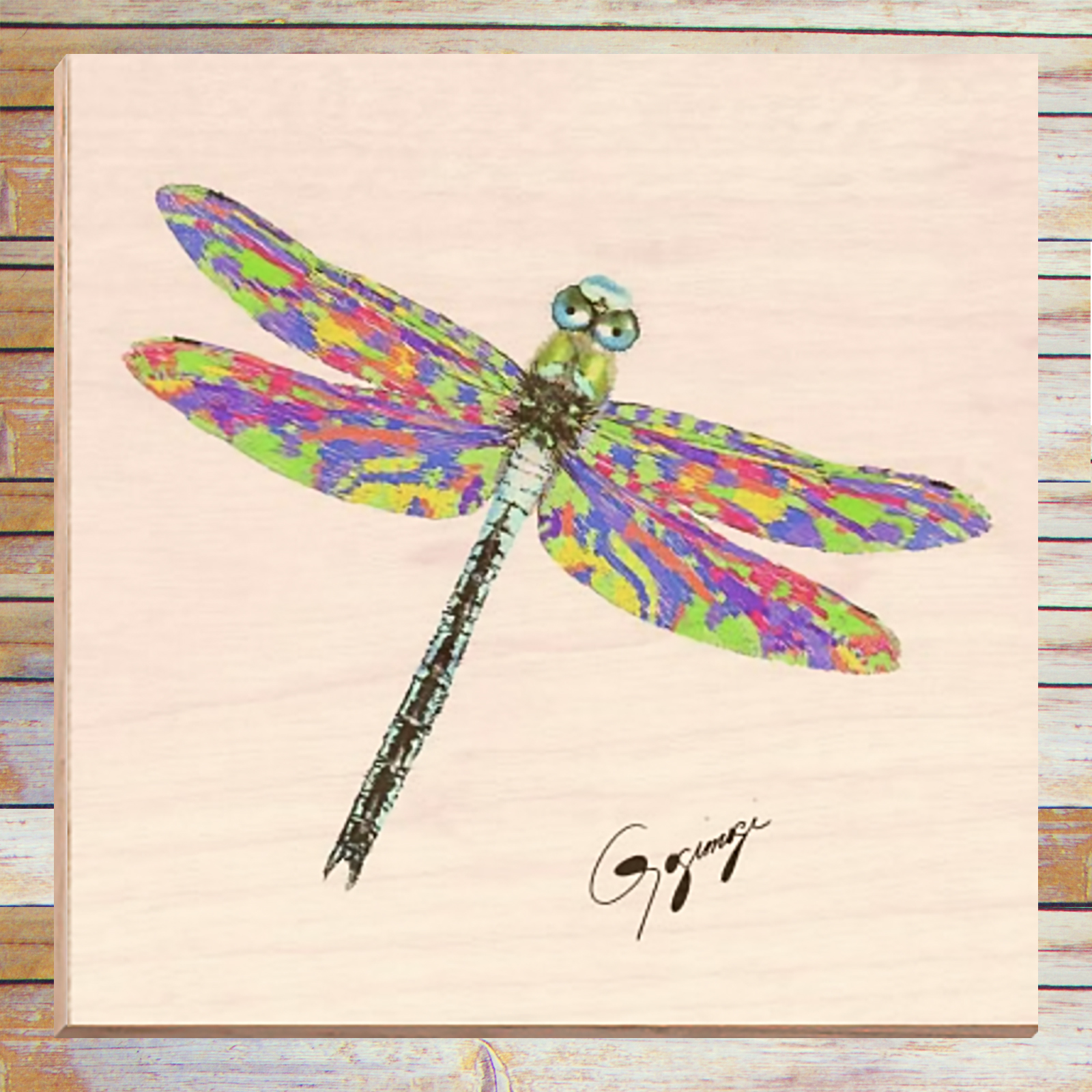 Dragonfly Wall Art dragonfly wall art on wood – gogimogi