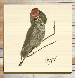 Gogimogi-Wall-Art-Great-Grey-Owl-on-Bamboo