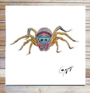 Gogimogi-Wall-Art-Jumping-Spider-on-Metal