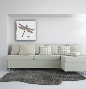 Gogimogi-Wall-Art_Dragonfly_Canvas_Livingroom