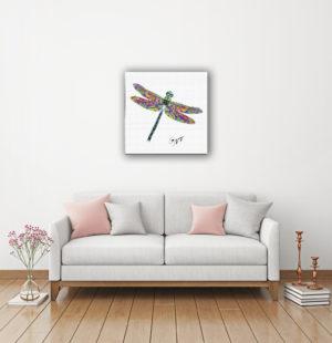 Gogimogi-Wall-Art_Dragonfly_Watercolor-Paper_Livingroom