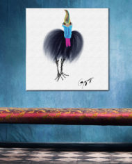 Cassowary-on-canvas-with-pink-lounge